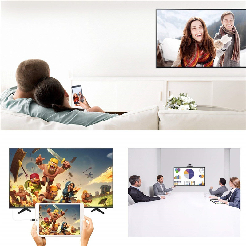 HSE006A Lightning To HDMI Digital AV TV Cable Adapter Sync